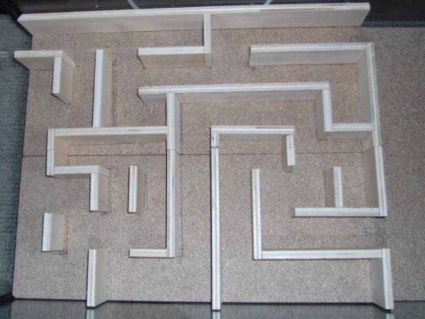 Fertig ist das Mäuselabyrinth! Oder nein - die Plexiglasplatte muss noch darauf gelegt werden. Viel Spaß beim Beobachten der Labyrinth-Erkundung deiner Rennmäuse!
